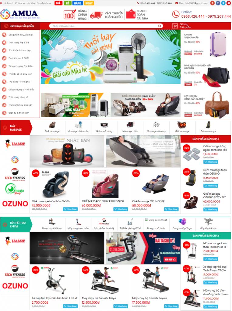 Vnsmat-Mẫu Website bán hàng chuyên nghiệp