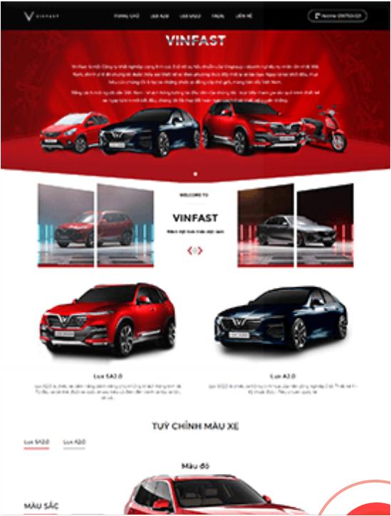 Vnsmat-Thiết kế Website Vinfast