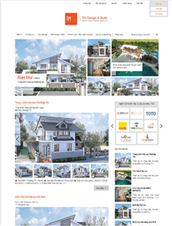 Website kiến trúc chuyên nghiệp