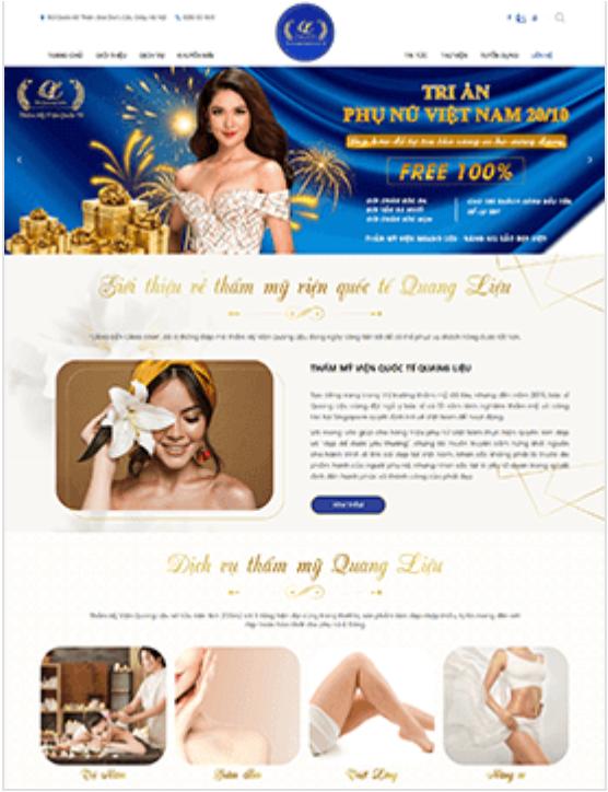 Website thẫm mỹ và làm đẹp