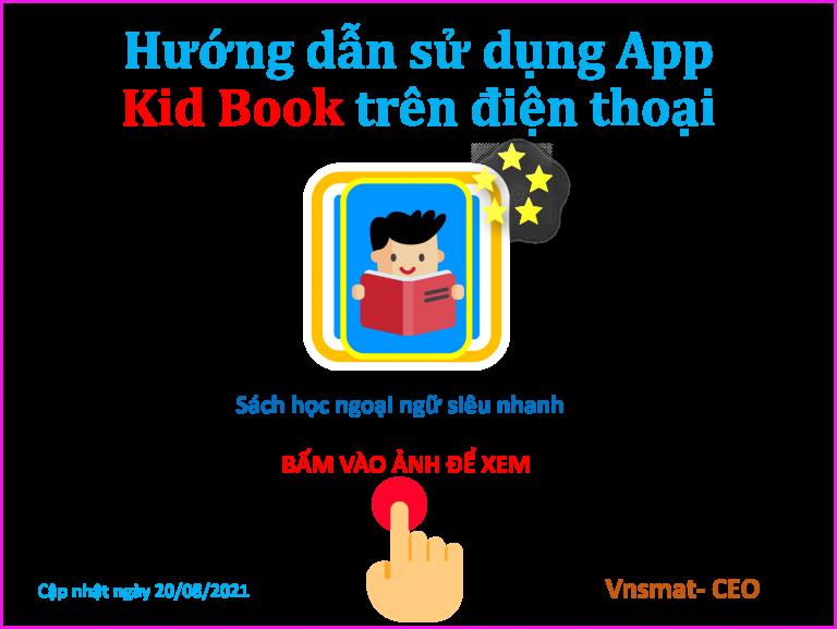 Hướng dẫn sử dụng App Kid Book