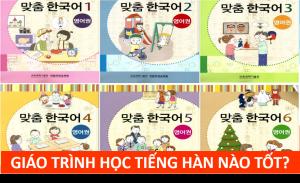 Giáo trình học tiếng Hàn tốt cho người mới học